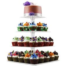 How To Display Cupcakes Without A Stand Inspiration Amazon 32 Tier Cupcake Holder Stand Square Clear Acrylic