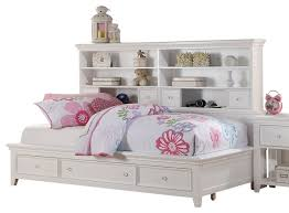 white bookcase storage bed. Contemporary Storage Wonderful Trixie White Big Bookcase Storage Bed Transitional Kids Beds  Throughout Ordinary On S