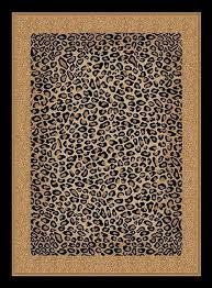 beautiful leopard skin animal print area rug bordered faux leopard skin rug