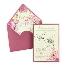 Envelope Wedding Wedding Invitation With Envelope Insert Floral Design 5579