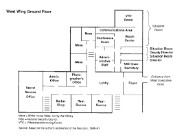 west wing office space layout circa 1990. West Wing Office Space Layout, Circa 1990 Layout E