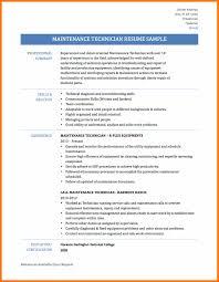 maintenance resume