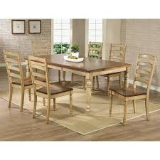 Quails Run Dining Table and 6 Chair in Almond and Wheat