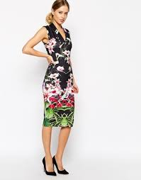 ted baker midi dress is mirrored tropical print asos com the Wedding Guest Dresses Ted Baker published february 22, 2015 at 290 × 370 in wedding guest dress ideas Wedding Dresses De Charro