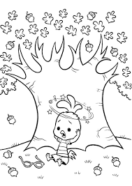 Small Picture Chicken Little Under the Tree of Acorn Coloring Pages Coloring Sky