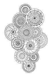 Free Coloring Page Coloring Zen Antistress Abstract Pattern