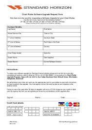 Chart Plotter Software Upgrade Request Form Standard