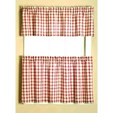 red checd kitchen curtains stylish plaid decorating with best images on