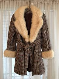 fashioned by jill jr sml m vintage wool w faux fur coat for in fort worth tx offerup