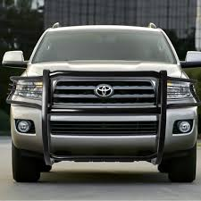 16 Toyota Sequoia Front Bumper Protector Brush Grille Guard (Black)