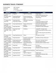 Travel Itinerary Example Travel itinerary templates word Travel Itinerary Template 1