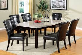 Marble Top Kitchen Table Set Furniture Of America Cm3866t Cm3866sc Marion I 7 Pieces