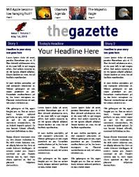 Newspaper Front Template Newspaper Templates For Students