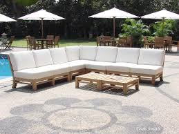 ramled grade a teak wood 7pc sectional sofa lounge set outdoor garden patio new
