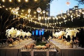 image of wedding outdoor lighting strings