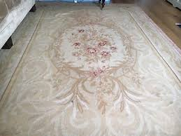 large vintage hand made french aubusson rug