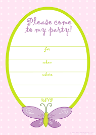 free printable birthday party invitations for girls free printable party invitations free pink butterfly girls birthday