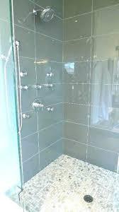 showers aqua glass steam shower showers enclosure ocean 4 x subway stea
