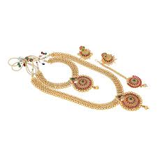 Temple Jewellery Gold Necklace Designs Amazon Com Indian Designs Ethnic Temple Jewellery Gold