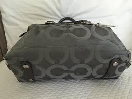 ... bags wallets  coach madison op art signature sabrina medium 12947 grey  jacquard