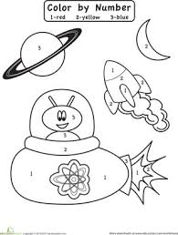 43ed5a50c798ea990014dd64f8e8e428 preschool colors color by numbers preschool 34 best images about space on pinterest crafts, astronauts and maze on space worksheets for kids