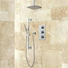 thermostatic shower system rainfall hand brushed nickel moen 90 degree spray chrome
