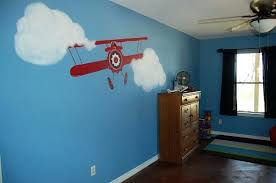 Airplane Room Decor Bright Airplane Themed Boys Bedroom ...