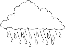 Small Picture Rain Cloud Coloring Book