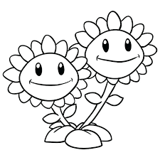 Download Plants Vs Zombies 2 Coloring Pages Peashooters