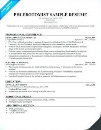 Phlebotomist Resume Inspiration Download Now Phlebotomy Resume Sample Cover Resume Sample