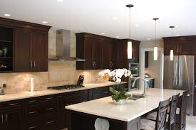 Kitchen Backsplash Dark Cabinets Backsplash For Dark Cabinets And