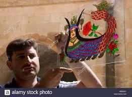 Mardin Artist Photo - Holding Shahmeran Glass On Shahmaran Alamy Painted Southeast Stock 16001642