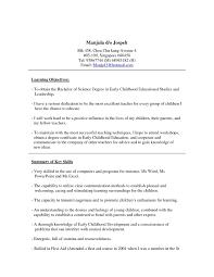 Sample Resume Cover Letter For Preschool Teacher New Leave Letter