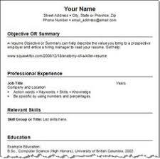 free job resume templates