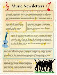 Music Newsletter Templates Free Event Newsletters No Registration