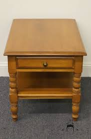 high end used furniture  conant ball solid maple end table