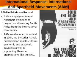 what was the nature of the civil society resistance after the international response international anti apartheid movements aam
