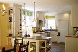 spanish compact kitchen peninsula decoration with furniture