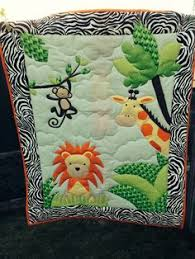 Safari Friends Baby Quilt with Fleece by artisticsouldesigns. How ... & A jungle quilt I made Adamdwight.com