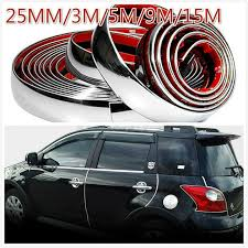 25mm diy car styling door moulding trim automotive car sticker rim strip 1m 1 5m 2m