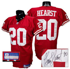 Jersey Hearst Authentic 49ers Services Signed Throwback Garrison 2002 Game-worn Authentcation - 100