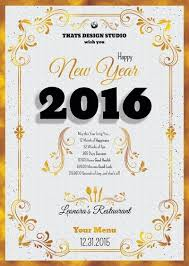 New Year Menu New Year Menu Template Psd To Customize With Photoshop
