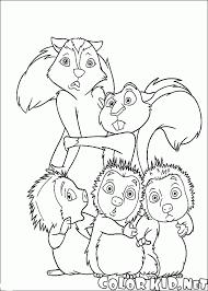 Disegni Da Colorare Skunk Scoiattoli E Porcospini
