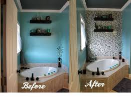 Small Picture DIY Glass Tile Accent Wall in Master Bathroom Hometalk