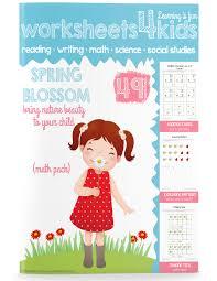 Spring Blossom – Math Pack - Free Worksheets for Kids