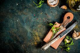 Концепция приготовления пищи, специи, травы и масла для ...