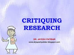critiquing research