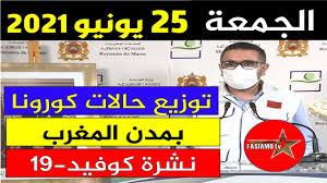 الحالة الوبائية في المغرب اليوم | بلاغ وزارة الصحة | عدد حالات فيروس كورونا  الجمعة 25 يونيو 2021 - Akhbar24News