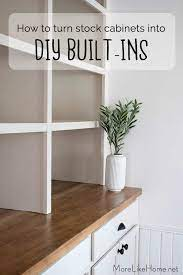 how to turn stock cabinets into diy