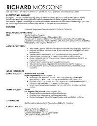 Dental Resumes Samples 3 Assistant Resume Sample